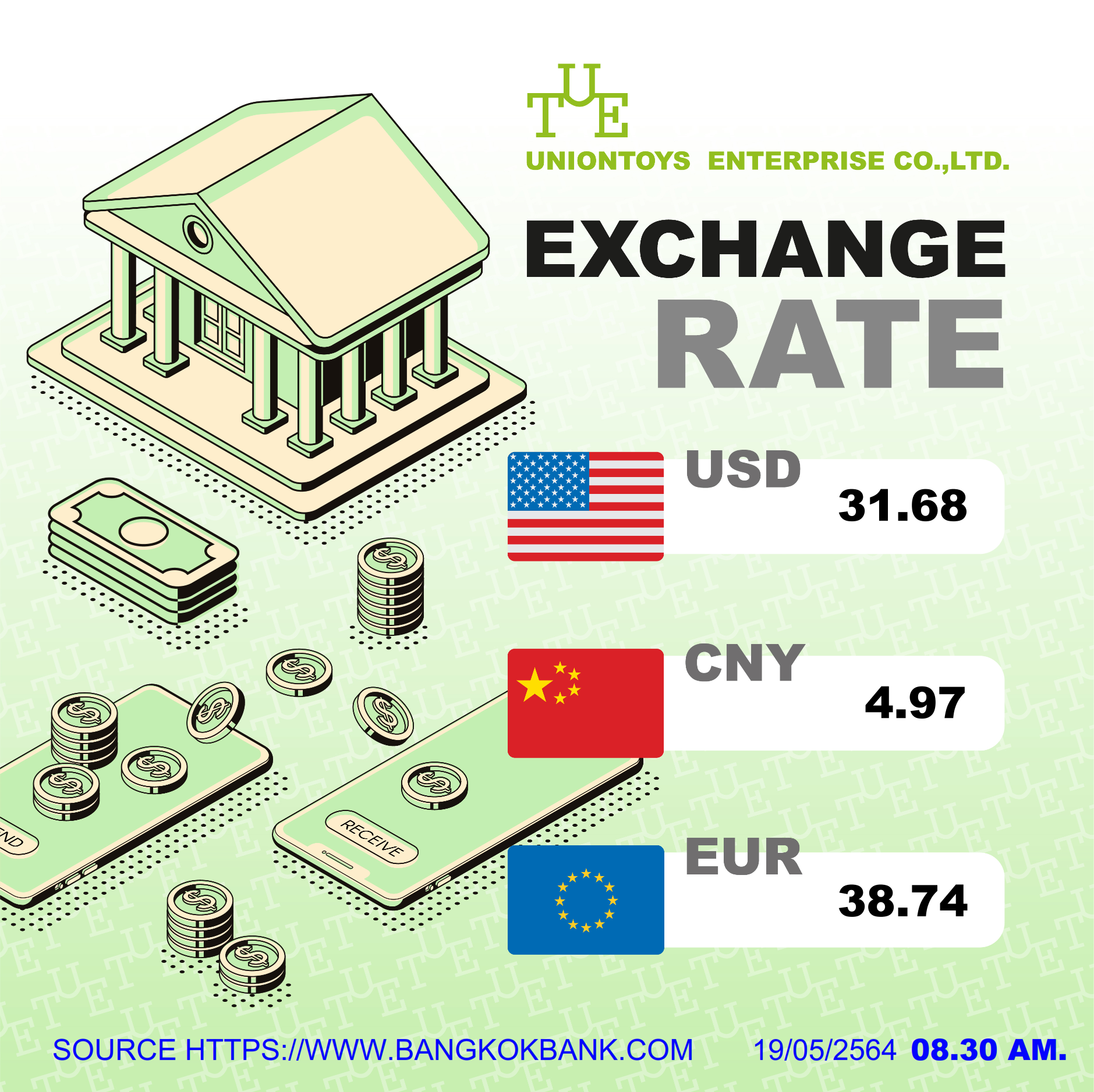 Uniontoys Currency Exchange - 19-05-2021