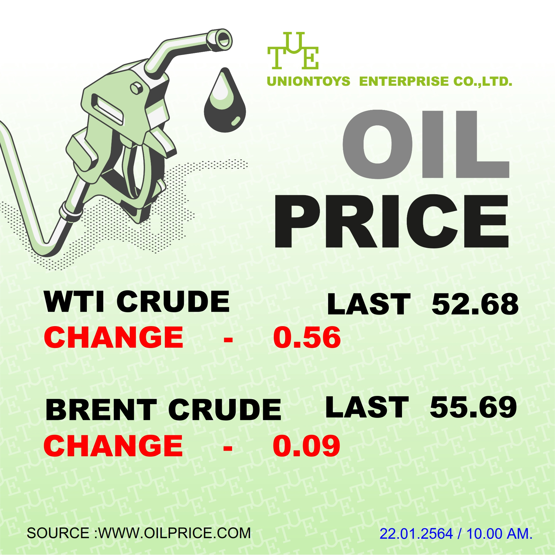 Uniontoys Oil Price Update - 22-01-2021