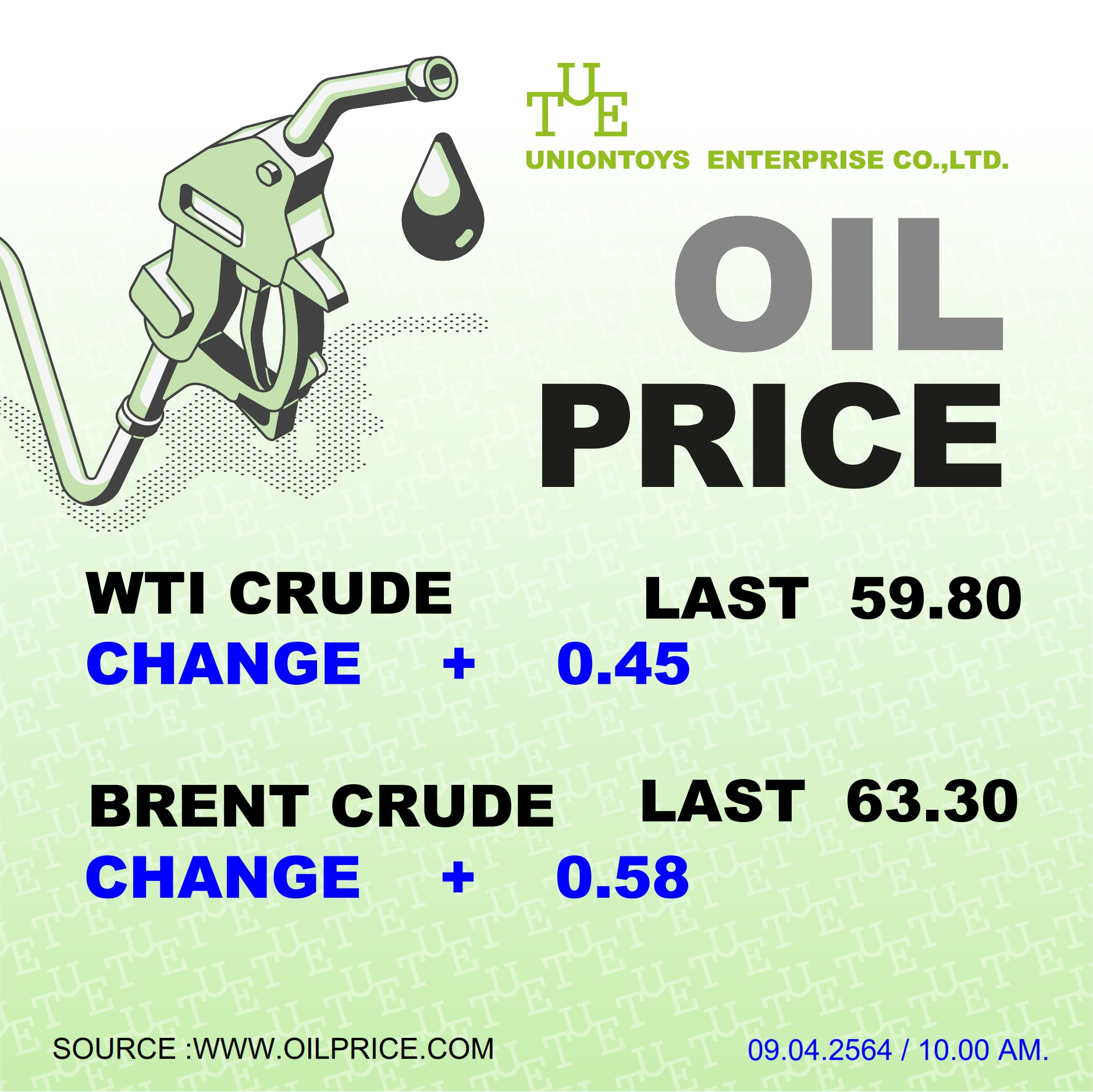 Uniontoys Oil Price Update - 11-04-2021
